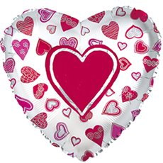 Foil Balloon 9 Heart Plenty Hearts