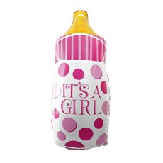 Foil Balloons - Foil Balloon 32 Milk Bottle Pink (44x82cmH)