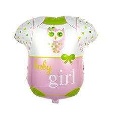 Foil Balloons - Foil Balloon 25 Baby Romper Suit Girl Pink (52.5x64.5cmH)