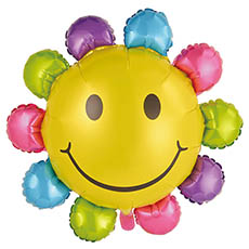 Foil Balloons - Foil Balloon 34 Multi Colour Sunflower (85x82cm)