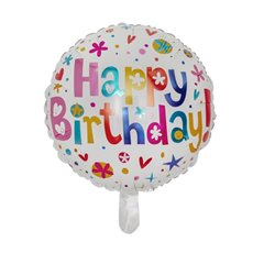 Foil Balloons - Foil Balloon 18 (45cmD) Round Happy Birthday