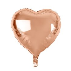 Foil Balloons - Foil Balloon 18 (45cm) Heart Shape Solid Rose Gold
