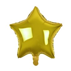 Foil Balloons - Foil Balloon 19 (48cm) Star Shape Solid Gold