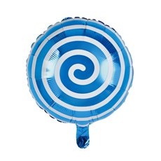 Foil Balloons - Foil Balloon 18 (45cmD) Round Lollipop Blue
