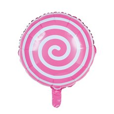 Foil Balloons - Foil Balloon 18 (45cmD) Round Lollipop Pink