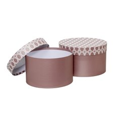 Gift Boxes Sets & Hat Boxes - Gift Box Medina Round Rose Gold (25x15cmH) Set 2