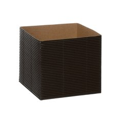 Mini Corrugated Posy Box Black PK10 (13x13x12cmH)