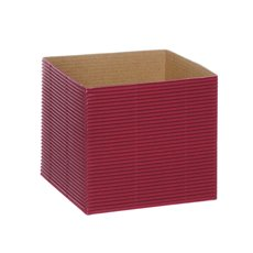 Posie Flower Box Mini - Mini Corrugated Posy Box Red (13x13x12cmH) Pack 10