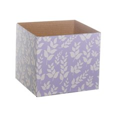 Posie Flower Box Mini Pattern - Floral Mini Posy Box Lavender (13x12cmH)
