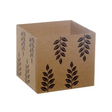 Eco Leaves Kraft Mini Posy Box Black (13x12cmH)
