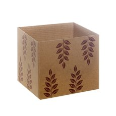 Eco Leaves Kraft Mini Posy Box Brown (13x12cmH)
