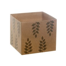 Eco Leaves Kraft Mini Posy Box Moss (13x12cmH)