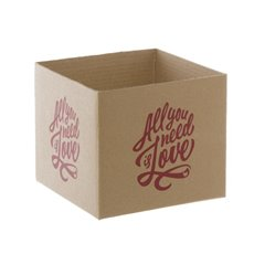 Mini Posy Box All You Need Is Love Kraft (13x12cmH)