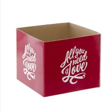 Mini Posy Box All You Need Is Love Red (13x12cmH)