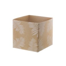 Posie Flower Box Mini Pattern - Mini Posy Box Leaf Natural White (13x12cmH)