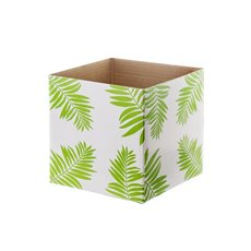 Posie Flower Box Mini Pattern - Posy Box Mini Gloss Leaf Green (13x12cmH)