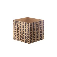 Posie Flower Box Mini Pattern - Posy Box Mini Kraft Herringbone Black (13x12cmH)
