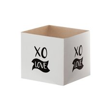 Posy Box White Mini XO (13x12cmH) Black