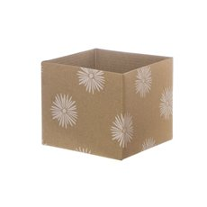 Posie Flower Box Mini Pattern - Posy Box Kraft Mini Flower Puff Kraft (13x12cmH)