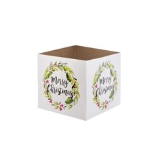 Posie Flower Box Mini Pattern - Posy Box Mini Xmas Wreath (13x12cmH)
