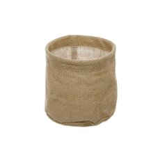 Flower Pot Cover - Natural Jute Pot Cover With Plastic Liner (13Dx12cmH)