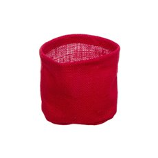 Jute Pot Cover With Plastic Liner Red (13Dx12cmH)