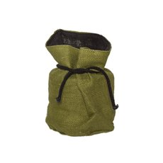 Flower Pot Cover - Hessian Sack Small Moss Green (17cmDx24cmH)