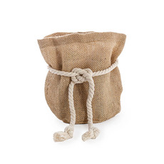Flower Pot Cover - Hessian Sack Small Natrual (17cmDx24cmH)