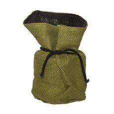 Flower Pot Cover - Hessian Sack Large Green (19cmDx28cmH)