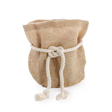 Flower Pot Cover - Hessian Sack Large Natrual (19cmDx28cmH)