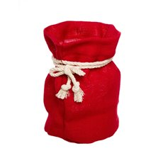 Flower Pot Cover - Hessian Sack Large Red (19cmDx28cmH)