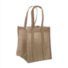 Jute Posy Gift Bags - Natural Jute Posy Bag With Plastic Liner (23x23x20mH)