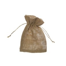 Jute & Linen Favour Bags - Hessian Jute Pouch Medium Natural (12x17cmH) Pack 10