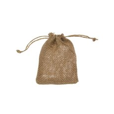 Jute Pouches - Hessian Jute Drawstring Opening Small Natural (8x10cmH) Pk10