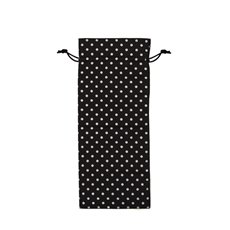 Wine Gift Bags - Wine Pouch Cotton Dot 10Pk Black White (13x32cmH)