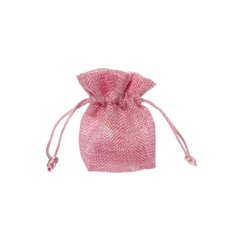 Jute Pouch 10Pk Small (8x8cmH) Pink
