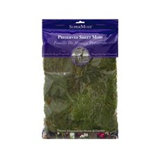 Sheet Moss Preserved Grass Green (225gm)