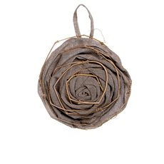 Rattan Hanging Linen Rose Brown (24cmD) Brown
