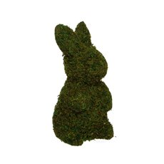 Garden Trend Rabbit with Moss Standing Green (30cmH)