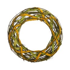 Natural Woven Wreath Largel Lime (36cmD)