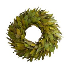 Natural Leaf Wreath Green (38cmDx8.5cmH)
