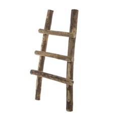 Home Seasonal Decorations - Wooden Ladder Decoration Natural (65cmH)