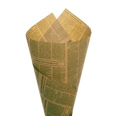 Kraft Paper Newspaper Wrapping 50 Pack Green (50x70cm)