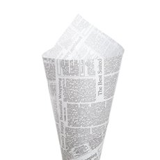 Art Paper Wrapping Newspaper Print 50 Pack Grey (50x70cm)