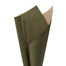 Coloured Kraft Paper - Ribbed Kraft Paper 70gsm Moss (50x70cm) Pack 100
