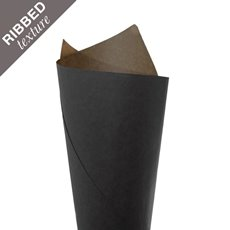 Ribbed Kraft Paper 70gsm Black PK200 (50x70cm)