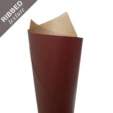 Ribbed Brown Kraft Paper 70gsm Chocolate PK200 (50x70cm)