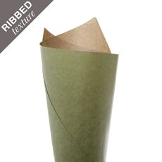 Ribbed Brown Kraft Paper 70gsm Moss PK200 (50x70cm)