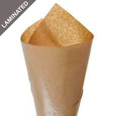 Brown & White Kraft Paper - Brown Kraft Paper Ribbed Laminated BOPP 65gsm(50x70cm) Pk100