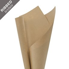 Brown & White Kraft Paper - Brown Kraft Paper Ribbed 120gsm Premium (50x70cm) 5kg Pk 110